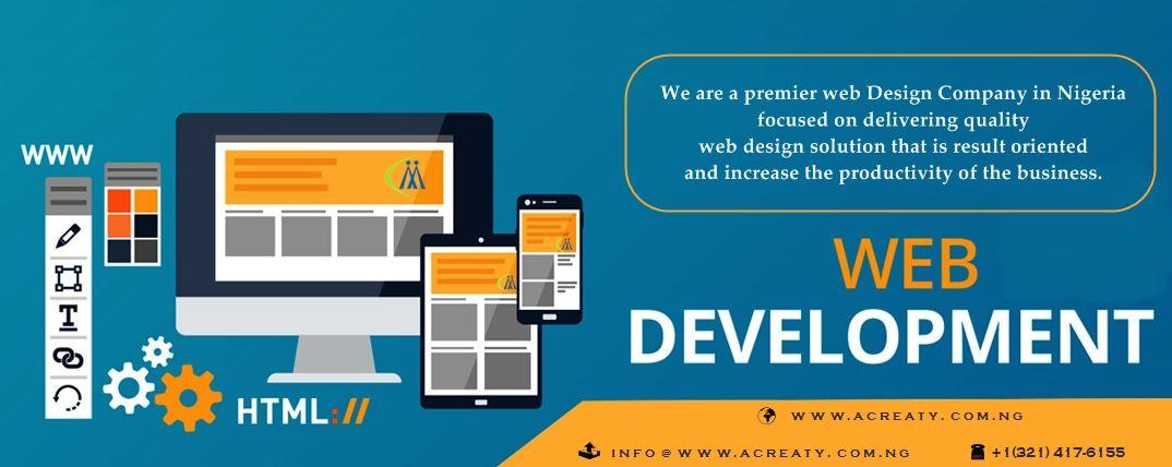 We Are A Premier Web Design Company In Nigeria Focused On Delivering Best Web Graphic Design Solution That Is Result O Web Design Company Web Design Design Development