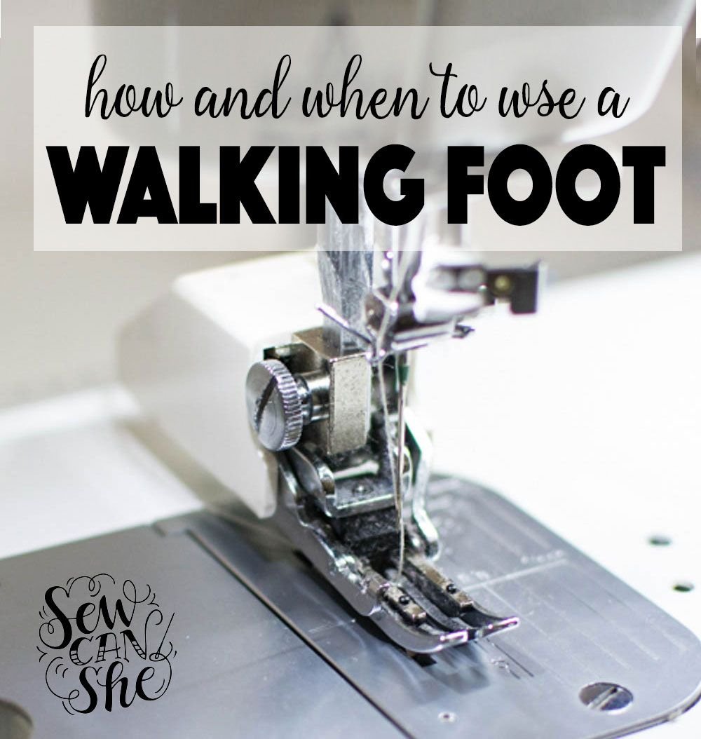 How and When to Use the Walking Foot on Your Sewing Machine | Sewing ...