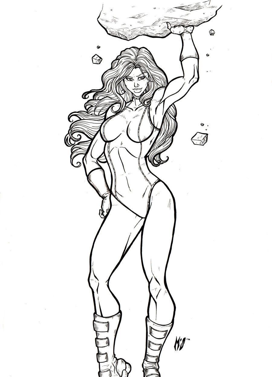 She Hulk Commission 24 By Xenomrphdeviantart On DeviantART
