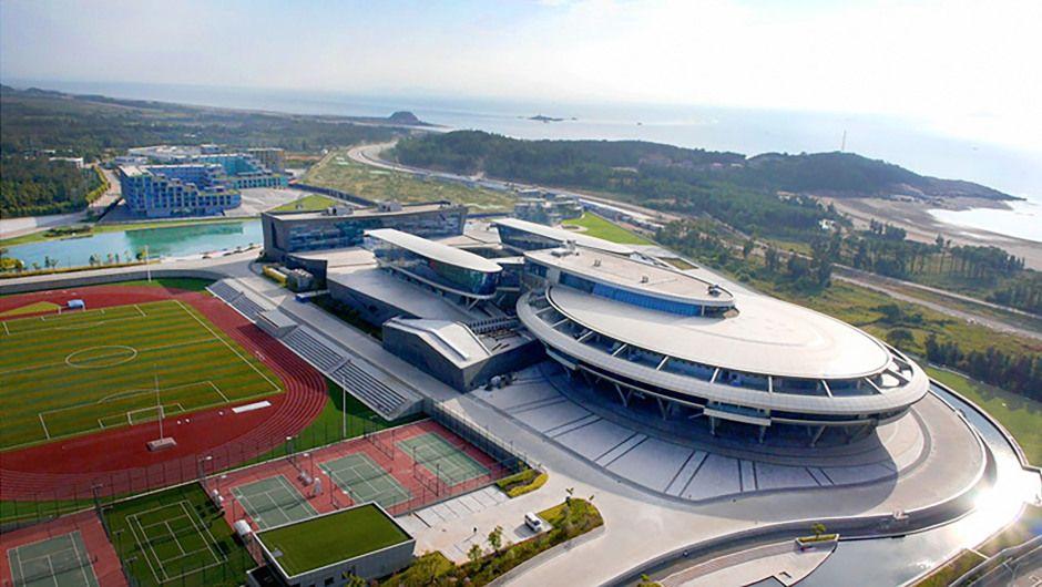 """NetDragon, un desarrollador de juegos en línea dirigido por un ávido fanático de """"Star Trek"""", construyó sus oficinas principales en China en la forma de la legendaria nave espacial que el capitán Kirk utilizaba. (Crédito: NetDragon Websoft)"""