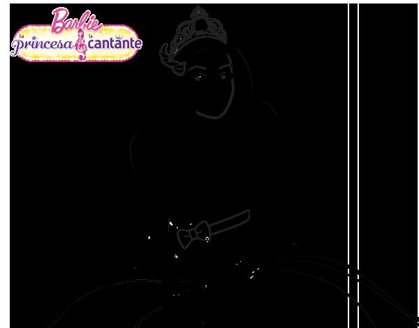 Princesa cantante  Dibujos de Barbie para colorear  Pinterest