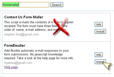 Form Emailer google apps script help page. Educational