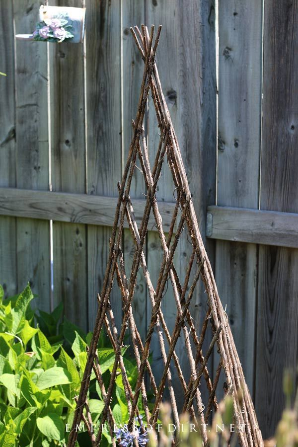 Creative garden obelisk idea gallery. Discover ideas for your backyard space. #DIY #trellisideas #empressofdirt