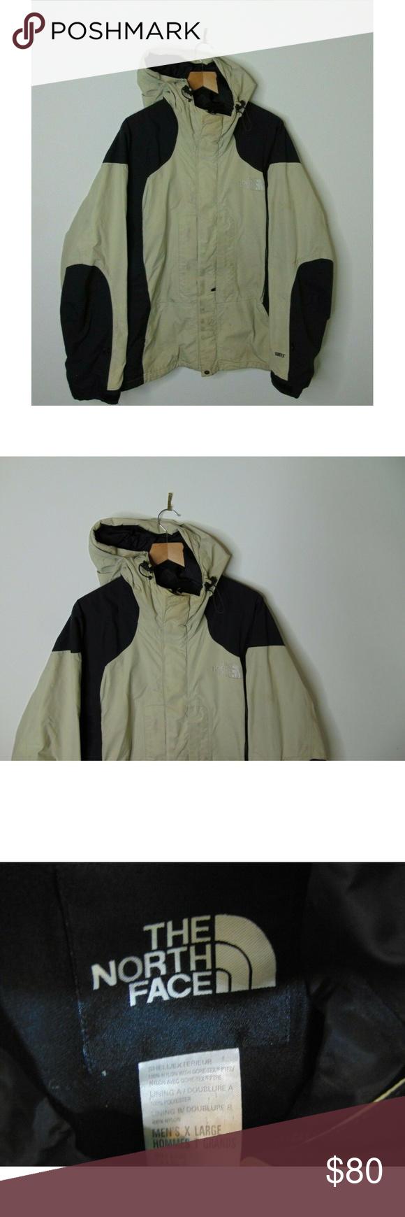 90s North Face Xl Mountain Rain Jacket Tan Hooded Jackets The North Face Mountain Jacket [ 1740 x 580 Pixel ]