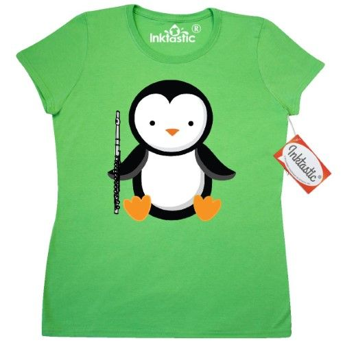 47978b5f Inktastic Flute Penguin Music Women's T-Shirt Player Musical Instrument  Marching Band Funny Flutist Instruments Clothing Apparel Tees Adult Hws,  Size: XL, ...
