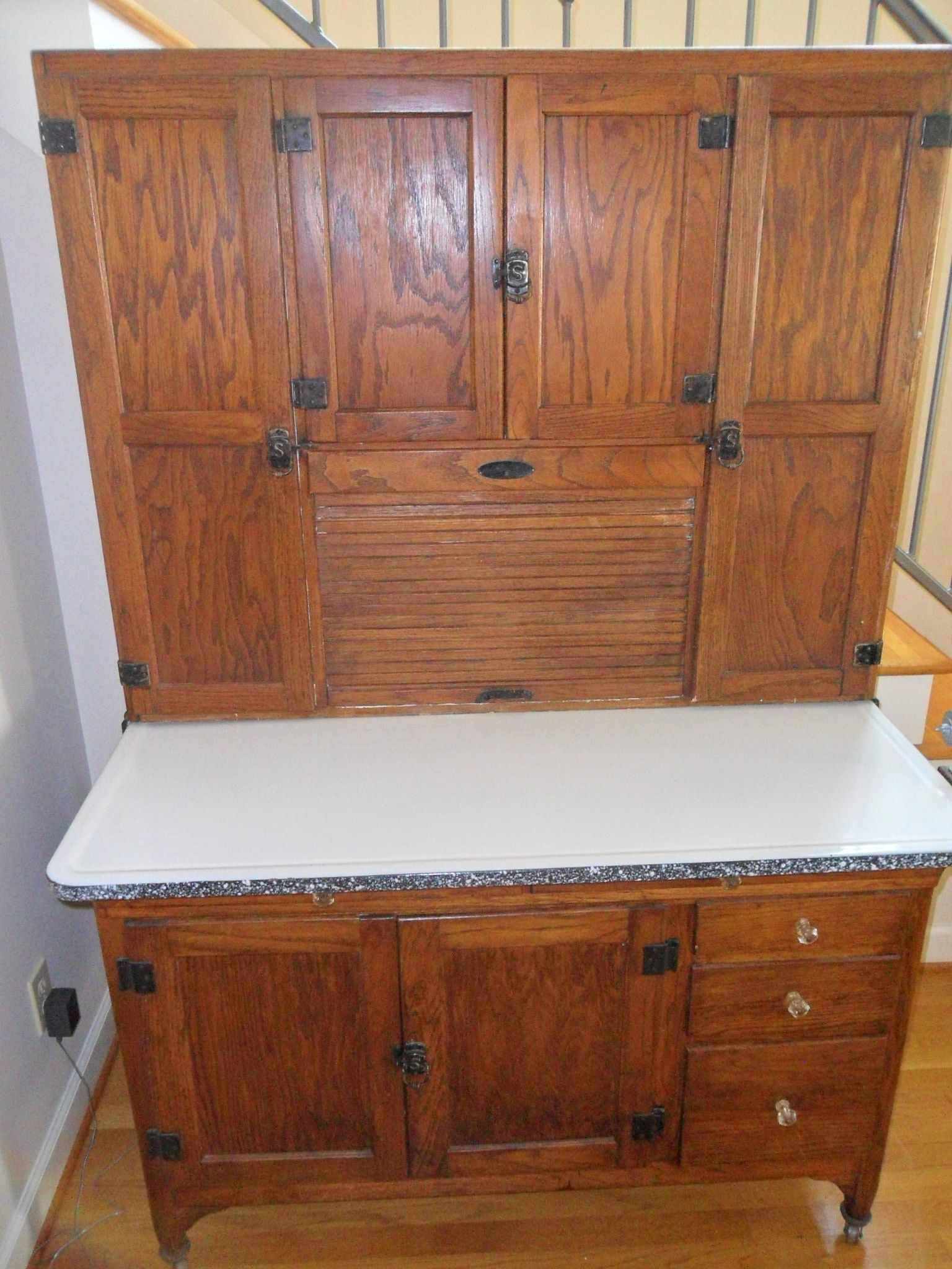 Vintage Kitchen Hutch What Is The Average Cost Of Refacing Cabinets Antique Bakers Cabinet Sellers