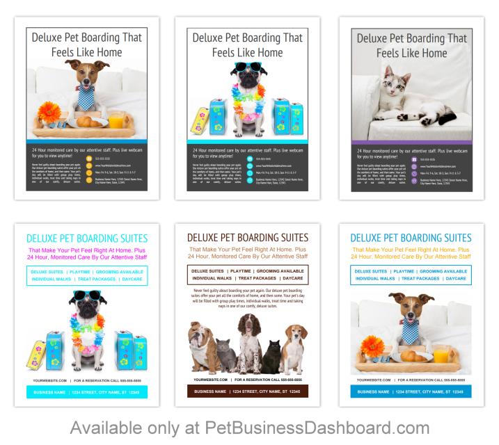 Pet Boarding Flyer Templates Bundle 7 Pet Boarding Pets Dog