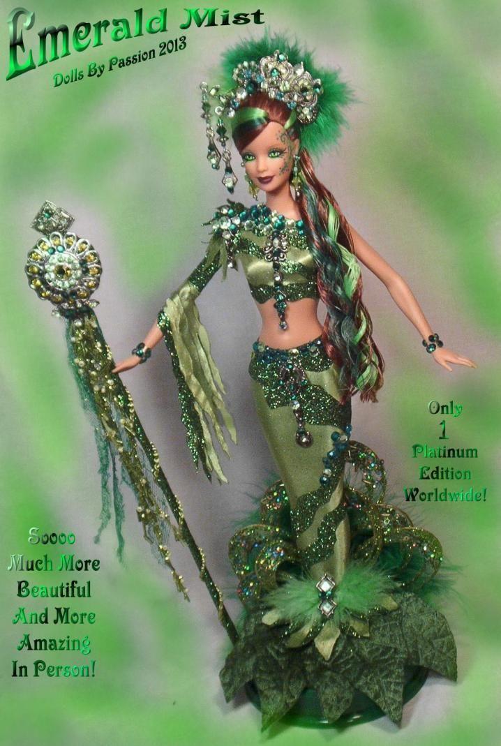Barbie Mermaid Fairy Emerald Peridot Collector Doll Altered OOAK Custom PASSION | eBay