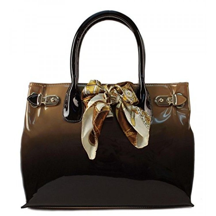 Scarleton Patent satchel H116708 - Beige