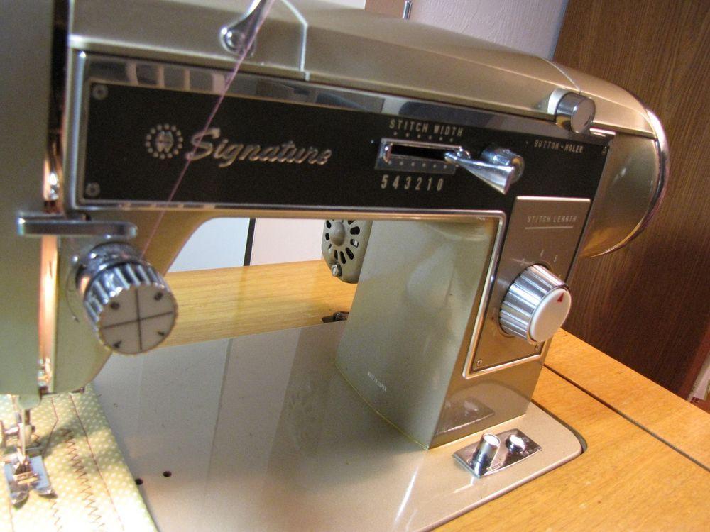Wards Signature Sewing Machine Zig Zag UHTJ40E Montgomery Wards Extraordinary Signature Sewing Machine