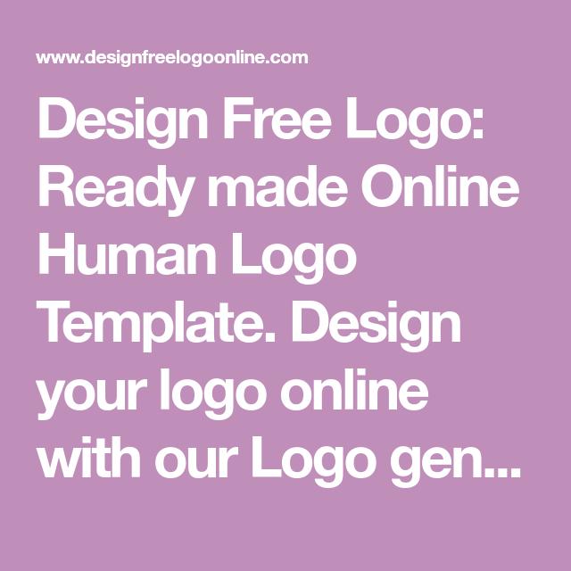 Creative Businessideas: Design Free Logo: Human Logo Template