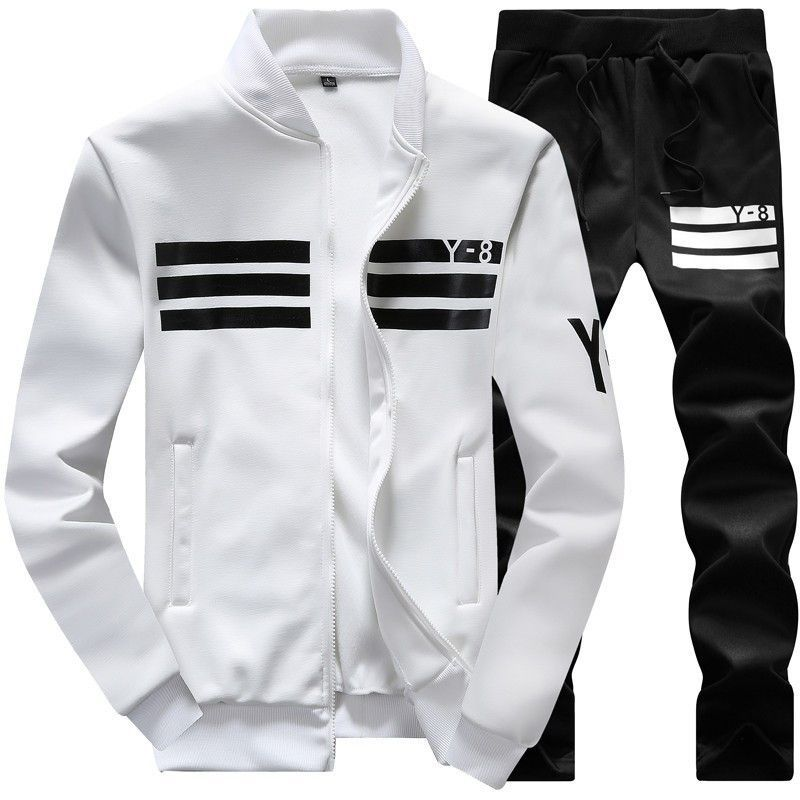 Men's Sportswear Set Striped y-8 Men Active Tracksuits hoodies&Sweatshirts sportsuit Men brand clothing size 5XL,6XL,7XL,8XL,9XL