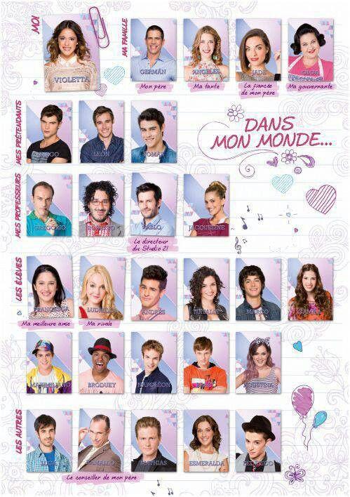 Todos Los Personajes De Violetta Violetta Saison 3 Actrice Nouvelle Vie