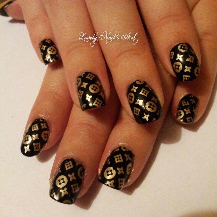 Nail art stamping * louis vuitton * | Cute nails | Pinterest