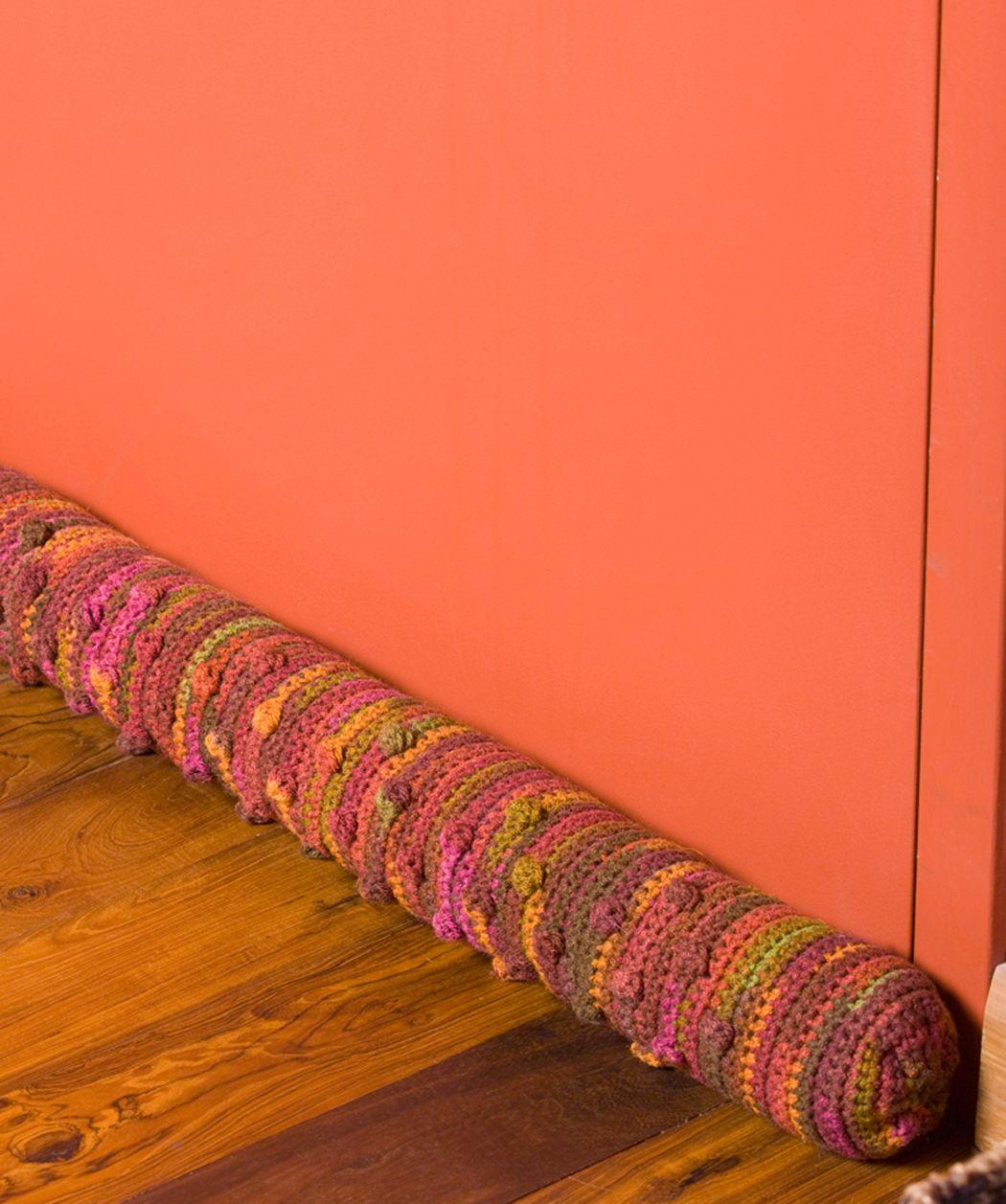 Draft Dodger Free Door Draft Pillow Crochet Pattern from Red Heart ...