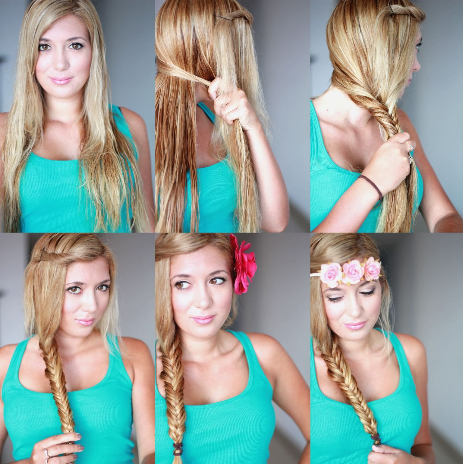 How to do cute fishtail braid hairstyle tutorial diy tag lets