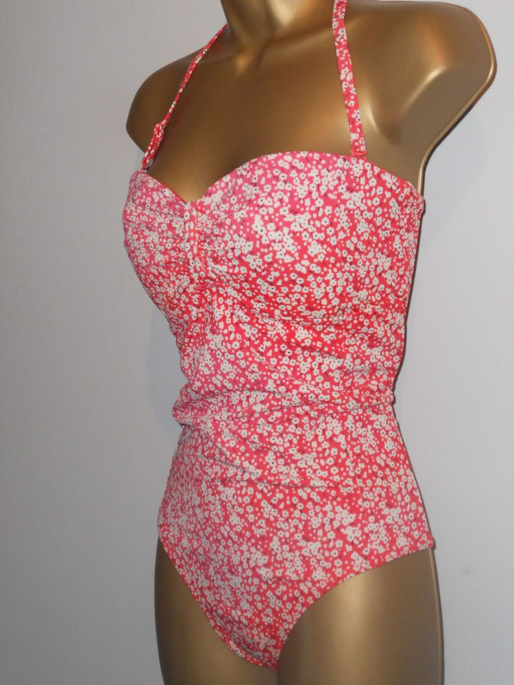 f5e9c2f218251 LADIES PINK FAT FACE HALTERNECK STRAPLESS SWIMSUIT SIZE 12 CONTROL SWIMWEAR  #fashion #clothing #