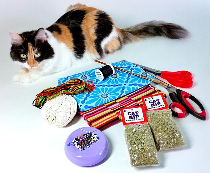 How to make a catnip-filled 'kick stick' type cat toy - so easy!