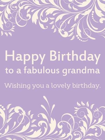To A Fabulous Grandma