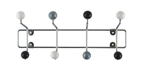 Catalogue Accessories Coat Stands Coat Racks Ball Wall Hooks Black Grey White Forma Contemporar Black And White Decor Black Coat Hooks Silver Walls