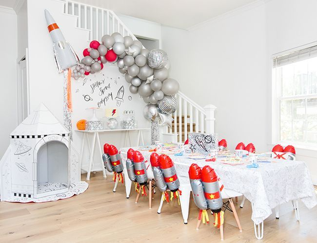 A Stellar Rocket Ship Space Birthday Party - Inspired By This #odyssÉe