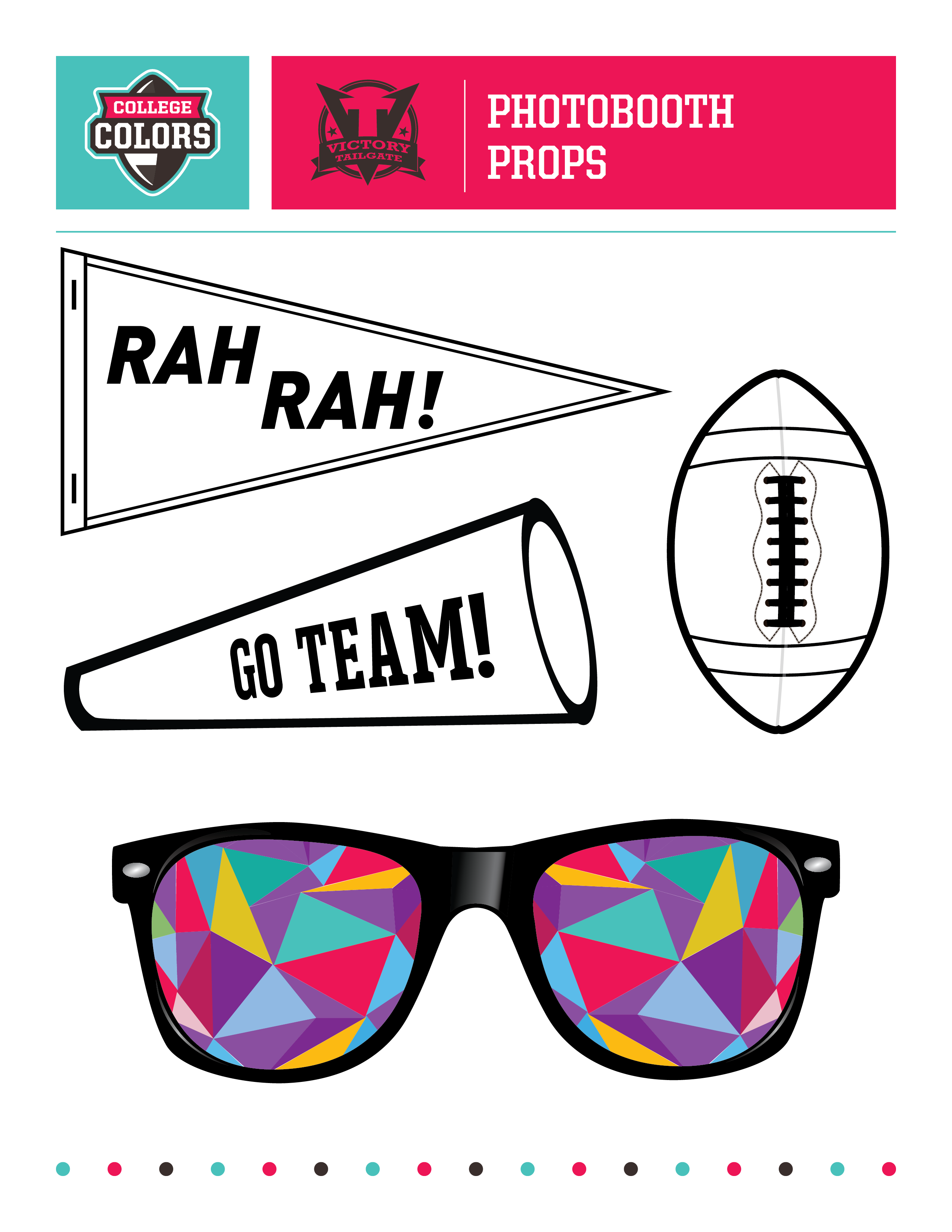 Football Tailgate Photo Booth Props- Free printable | My ...