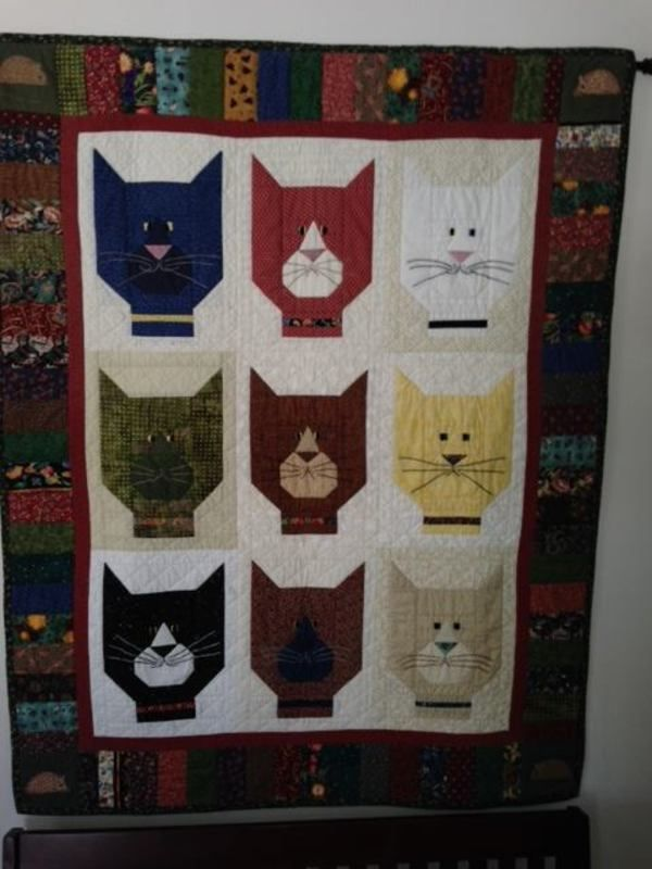 Caterday Quilts: March 8 - 24 Blocks | Cat quilts | Pinterest | 24 ... : cats meow quilt pattern - Adamdwight.com