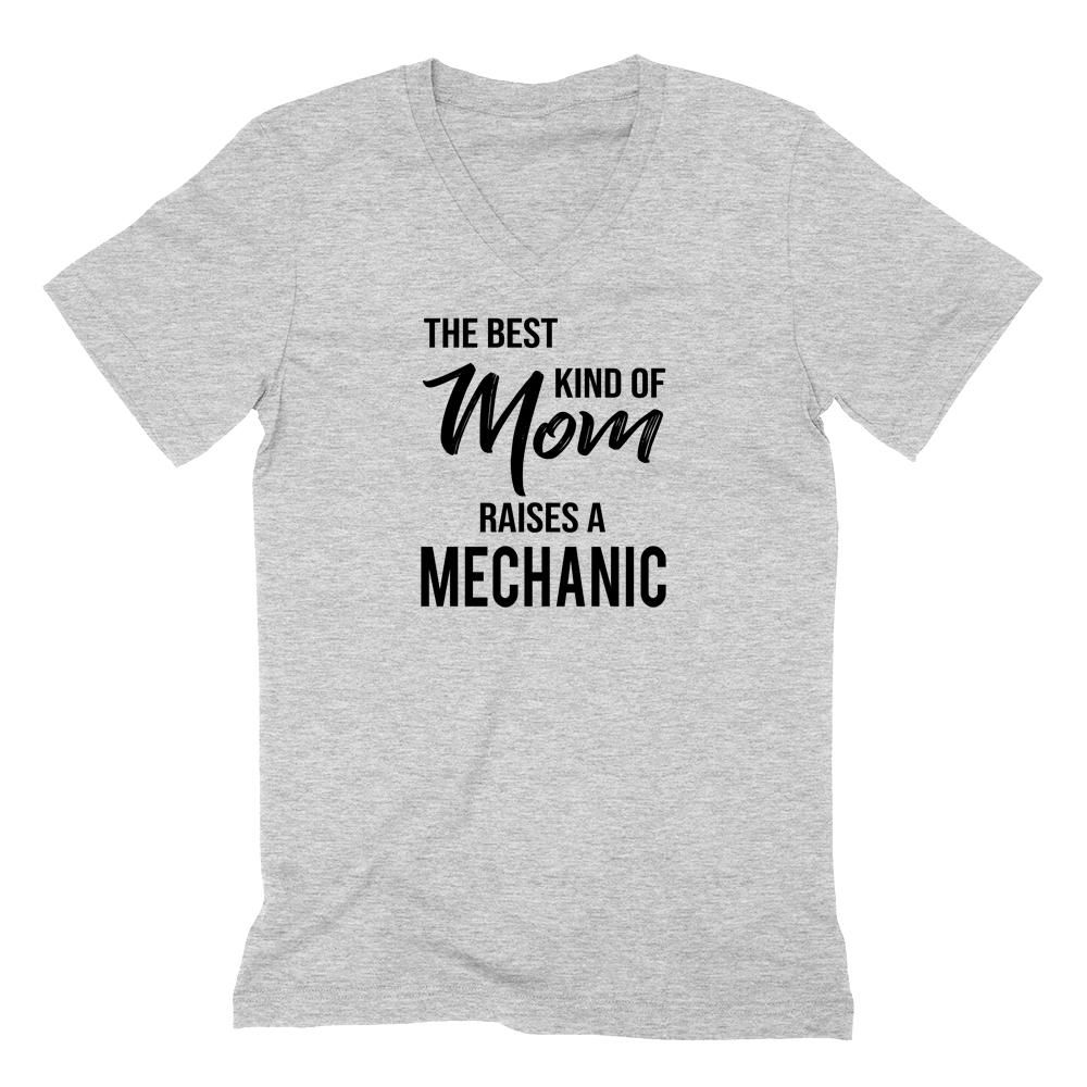 1ab591c7b The best kind of mom raises a mechanic V Neck T Shirt #mothersday  #grandparents #mom #mother #mommy