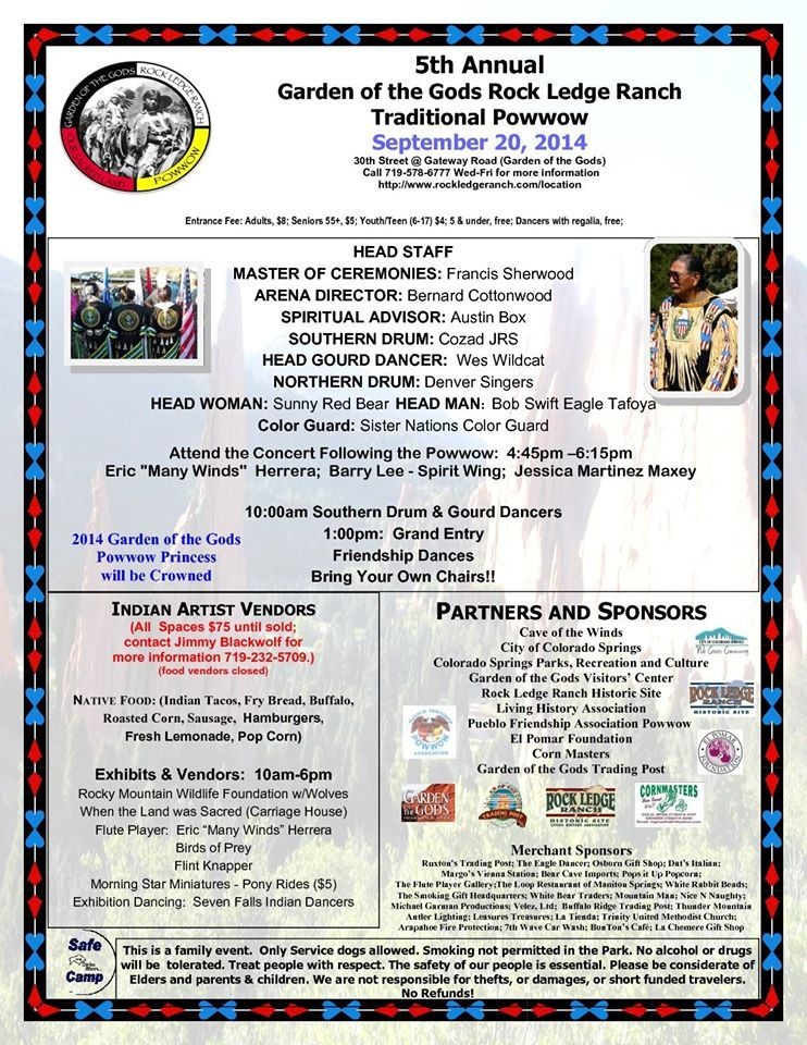 Rock Ledge Ranch Pow Wow on September 20, 2014