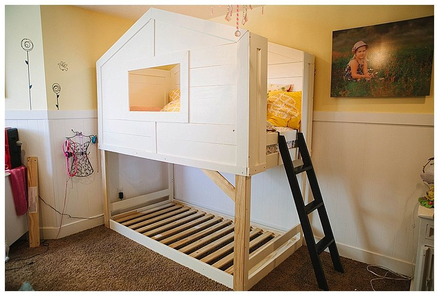 { playhouse bed } girls bedroom, diy ikea makeover