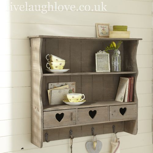 Love This Shabby Chic Kitchen Shelf I Would Keep All My Dry Ingredients In Glass