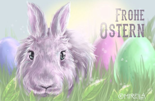 Frohe Ostern! Easter rabbit