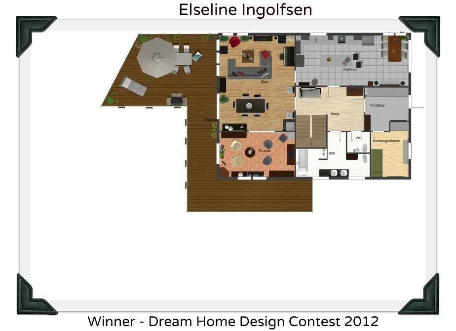 ANNOUNCEMENT - Dream Home Design Contest 2nd Place winner: Elise ...