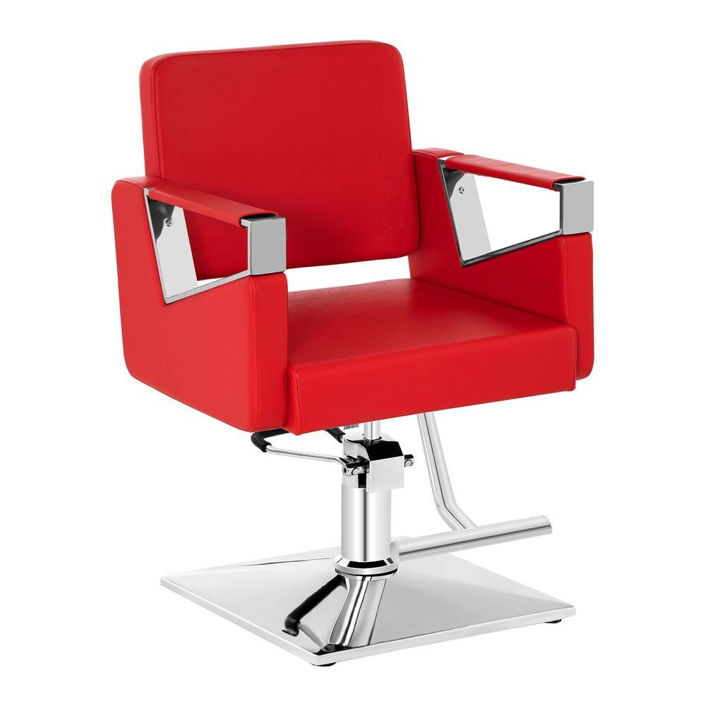 Chaise Fauteuil Barbier Salon Coiffure Hydraulique Repose Pied 200 Kg Pvc Rouge Chaise Fauteuil Chaise Repose Pieds