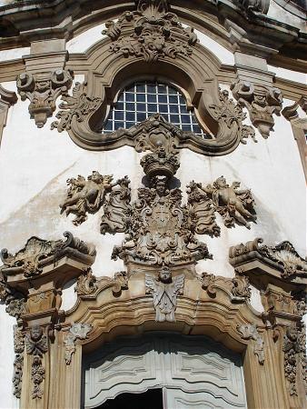 Detalhes da Igreja de Nossa Senhora do Carmo - Mariana - MG - Brasil