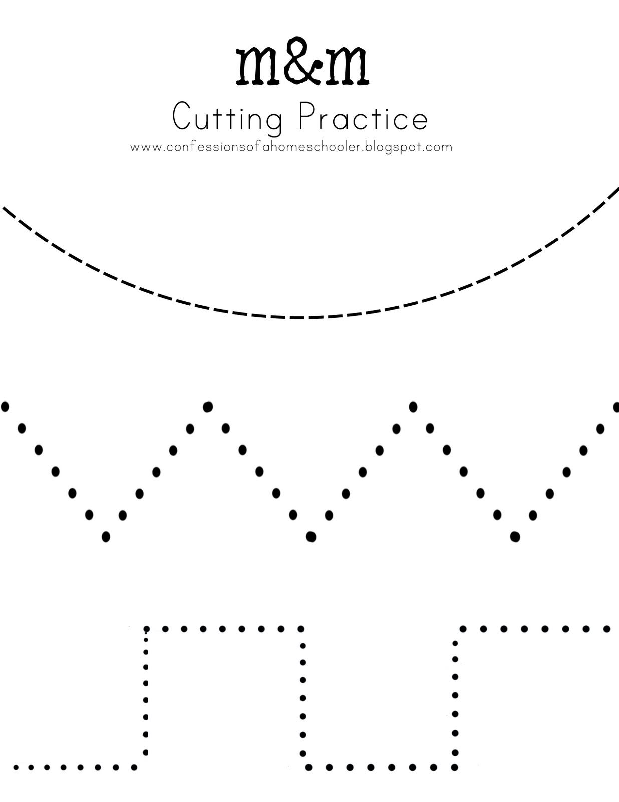 Cutting Practice And So Many Other Free Printables For
