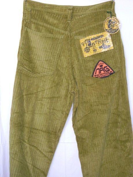 f6df713c New Men Jean Energie Baggy Loose Denim Hip Hop Rap Streetwear OLIVE  CORDUROY W36 #ENERGIE #BaggyLoose