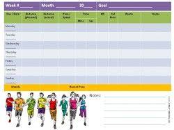 running log template design templates