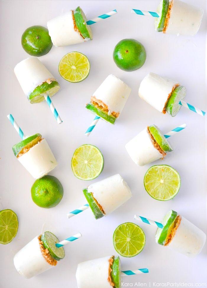 Key Lime Popsicle Recipe by Kara's Party Ideas | KarasPartyIdeas.com