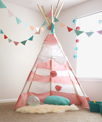 DIY No Sew Teepee For Less Than $30 & DIY No Sew Teepee For Less Than $30: Instructions Inside | 30th ...
