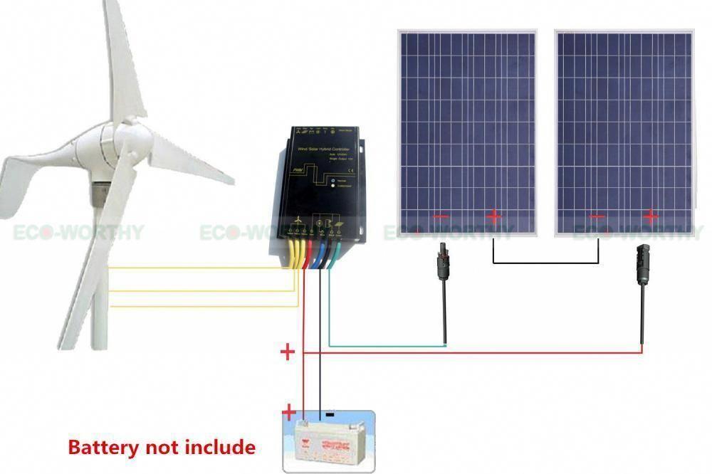500w 750w Hybrid System Kit 400w Wind Turbine Generator Solar Panel Rv Home Wind Turbine Generator Wind Turbine Best Solar Panels