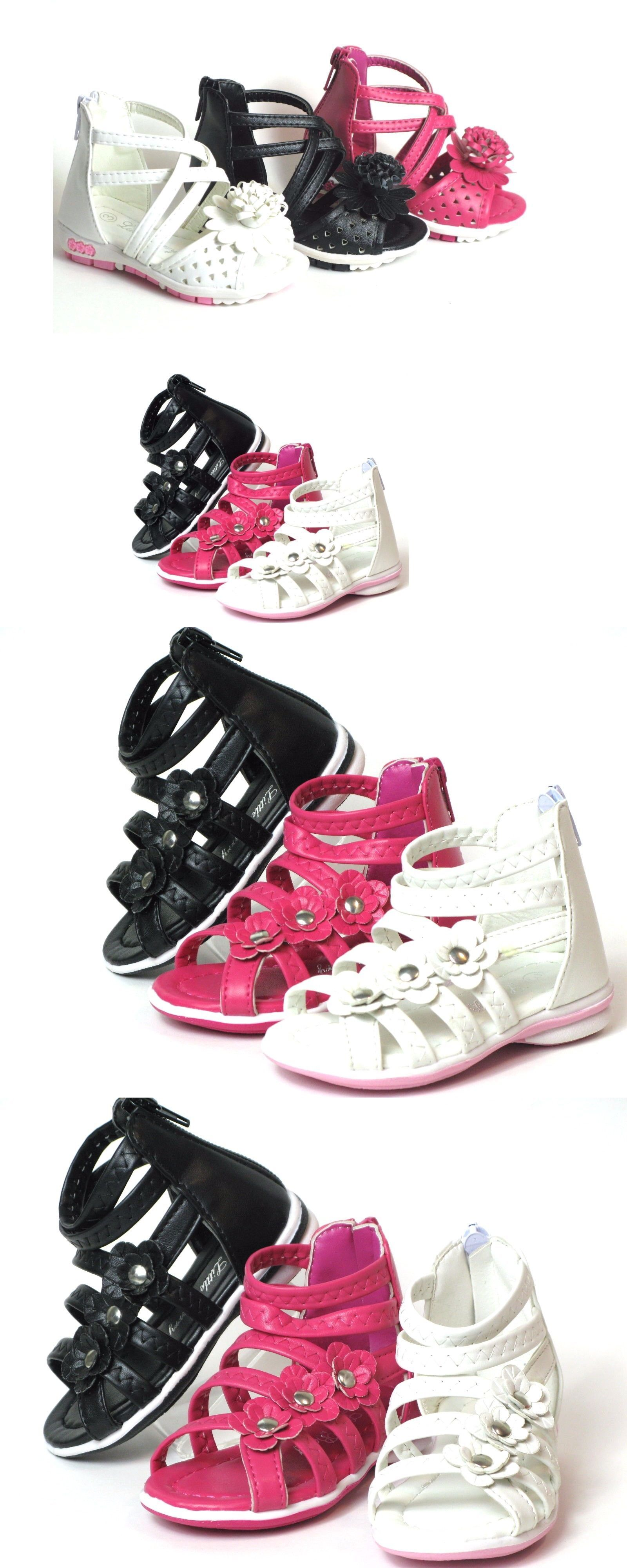 d196b31abf4 Baby Shoes 147285  Baby Toddler Girls Adorable Gladiator Sandals Shoes Size  4-9 Black Pink White -  BUY IT NOW ONLY   12.95 on  eBay  shoes  toddler   girls ...