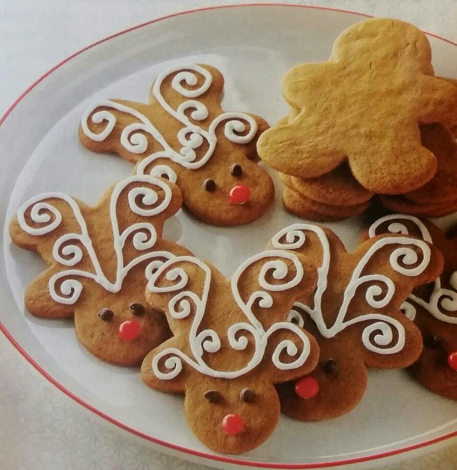 Jolly Ginger Reindeer Cookies Christmas Reindeer Cookies