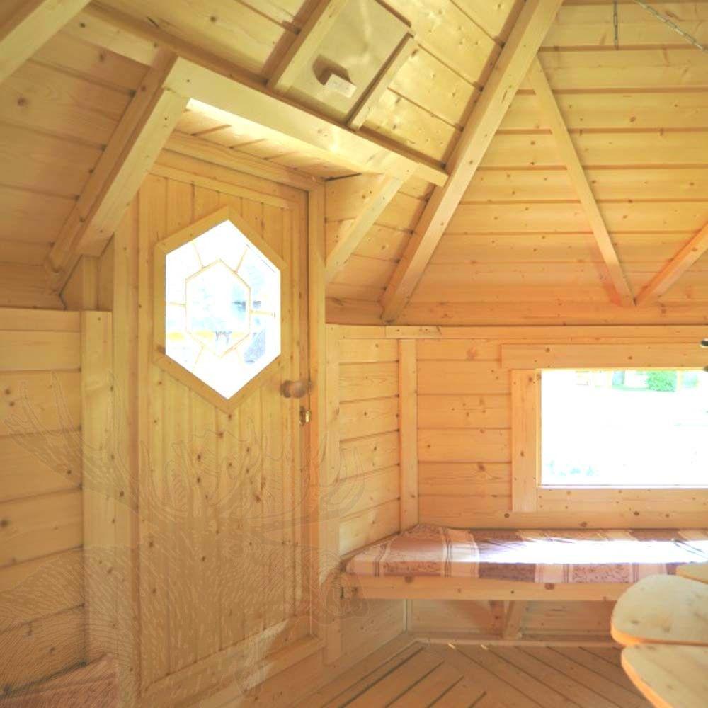 nordic spa - grillkota 9,2 m² mit angebauter sauna - ihr