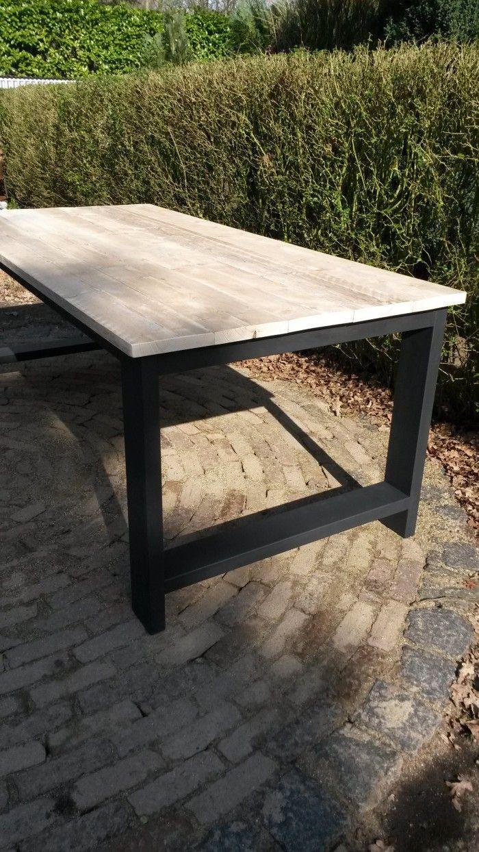 Table Bois Metal Exterieur pointwooddesign helmond zeer mooie steigerhout eettafel