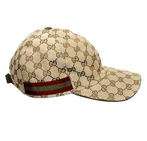 3be9fd5b Gucci Beige Cotton Blend GG Canvas Brown Green Web Baseball Hat Cap 200035  (XL)