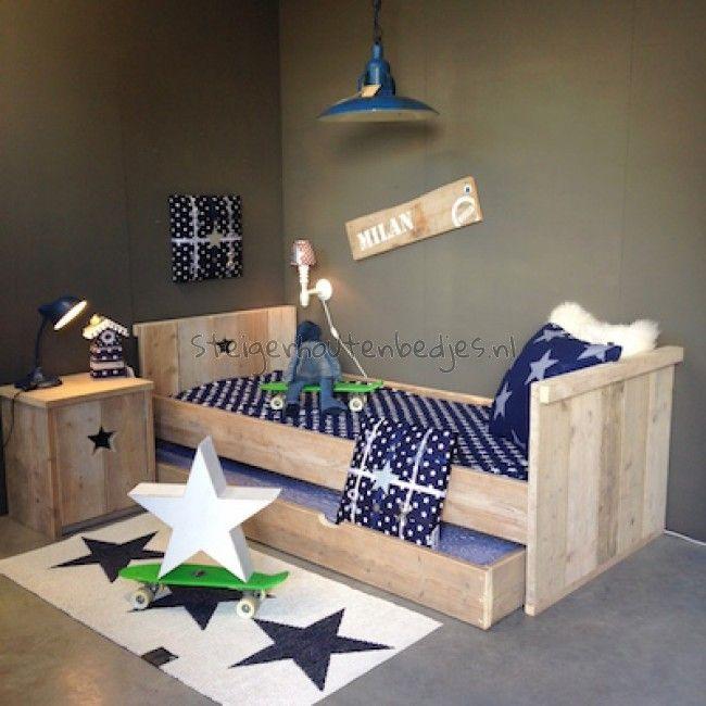 Jongensbed steigerhout google zoeken idee n voor het huis pinterest ledikant zoeken en - Mezzanine jongen ...