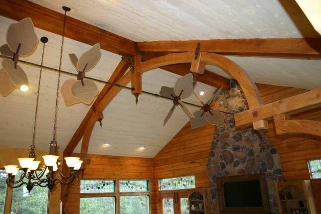Outdoor Belt Driven Ceiling Fans Exterior Farmhouse Style