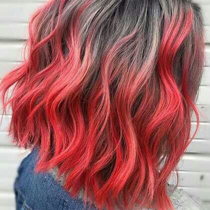 Red And Grey Ombre Redhair Hairstyles Colorfulhair Ombre Shorthair Hair Styles Diy Hairstyles Chemically Straightened Hair