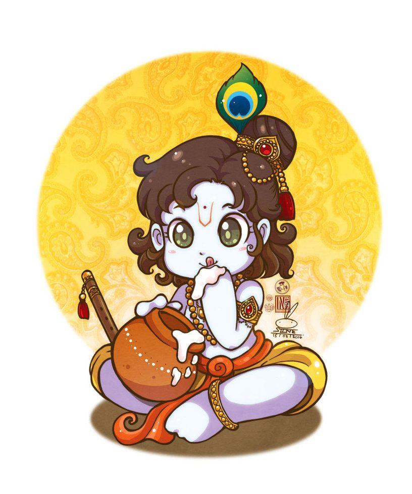 Little Krishna Little Krishna Baby Krishna Krishna Radha Painting